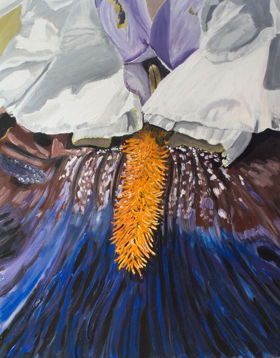 Purple Iris - MKDL Paintings and More