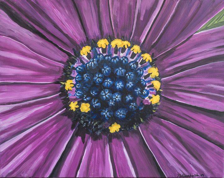 Purple Daisy - MKDL Paintings and More