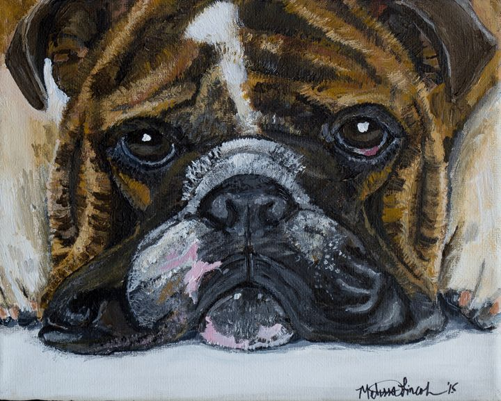 Brindle Bulldog - MKDL Paintings and More