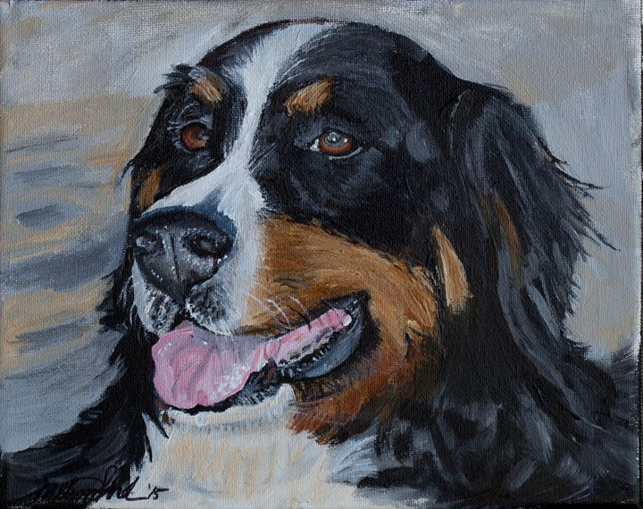 Burnese Mountain Dog - MKDL Paintings and More