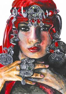 Amazigh girl of Morocco - Red