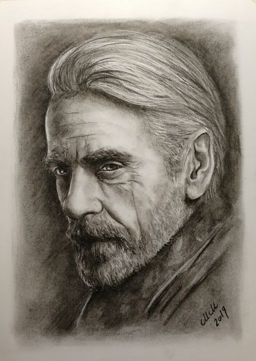 The character - charcoal portrait - MM Art Studio