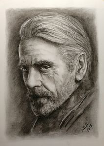 The character - charcoal portrait