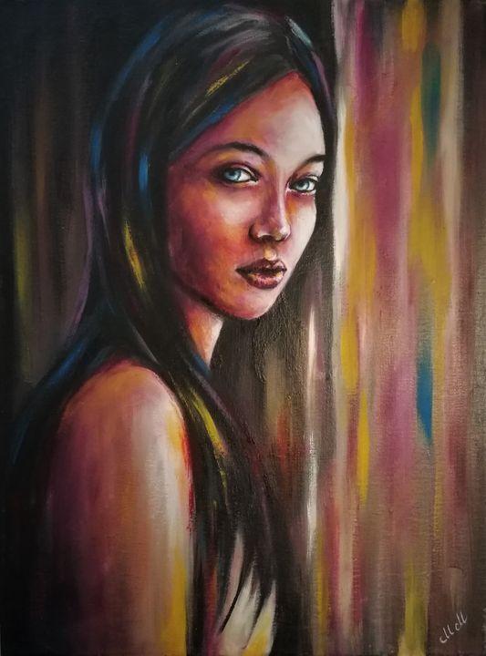 Woman by the window - oil on canvas - MM Art Studio
