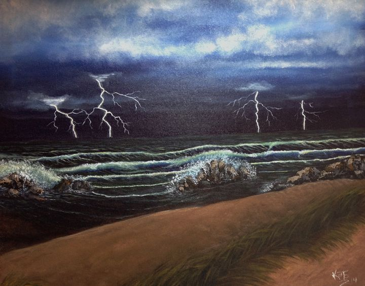 Raging Storm - yukitkat art/ kathleen Y Parr