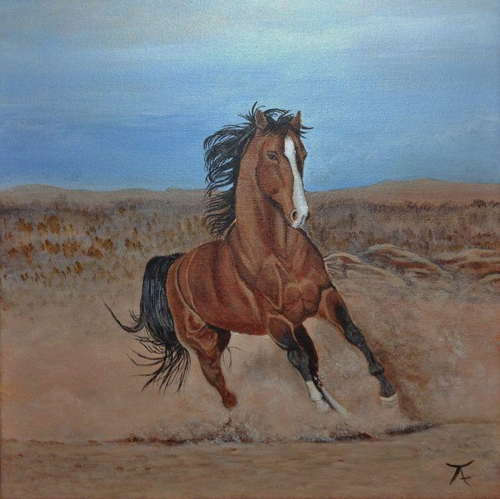 Raging horse - yukitkat art/ kathleen Y Parr