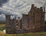 14x18 Acrylic castle- desolation