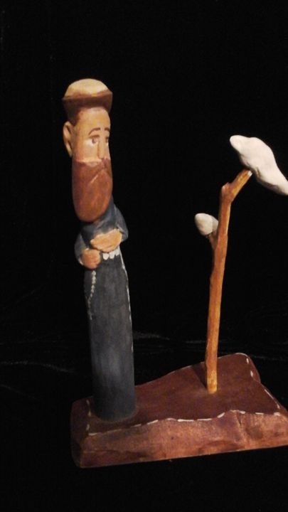 HAND CARVED WOOD CHARACTERS - BRENDA FLORES HAND CARVED WOOD SCULPTURES
