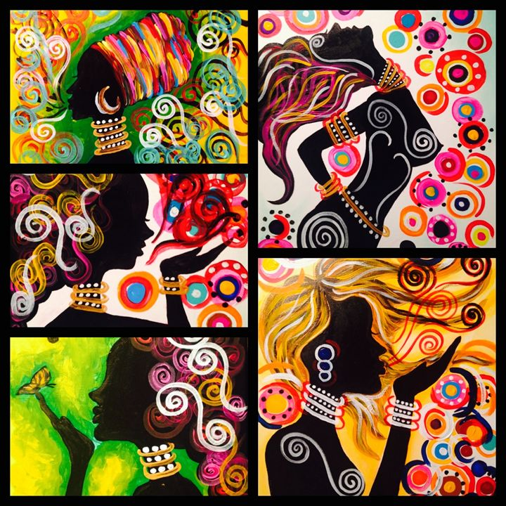 Colorful Silhouette - Christie Pheona Lathan Art For You