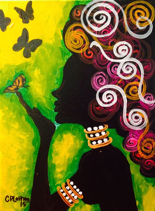 Like a Butterfly - Christie Pheona Lathan Art For You