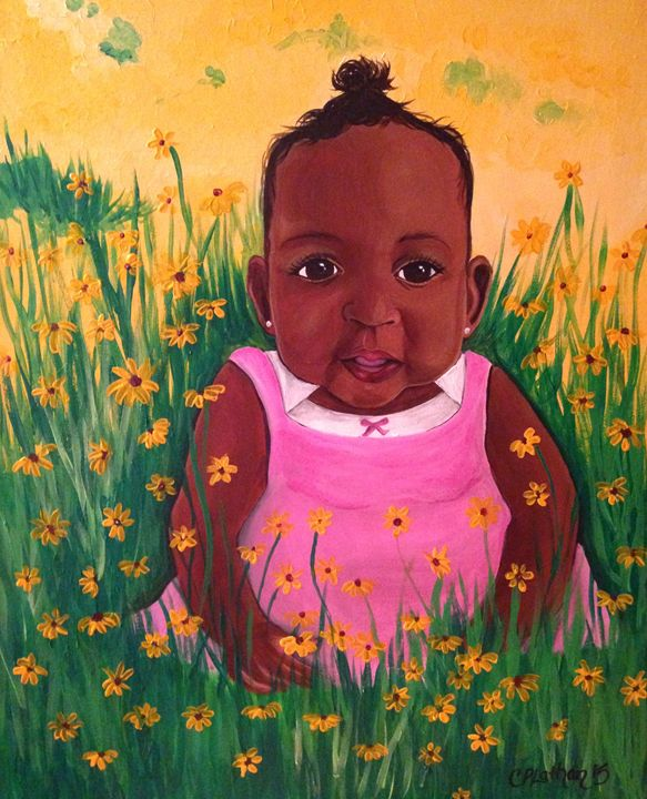 Flower Child - Christie Pheona Lathan Art For You
