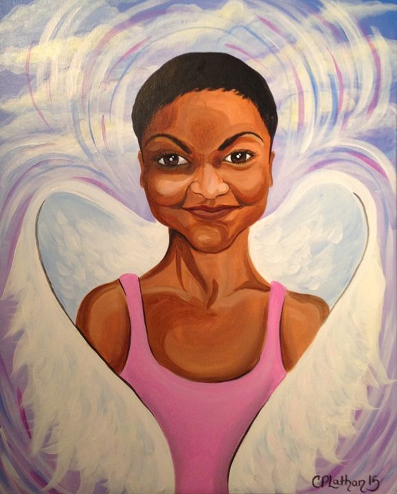 Resting Angel - Christie Pheona Lathan Art For You