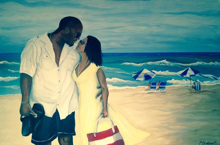 Beach Love - Christie Pheona Lathan Art For You