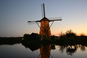 Windmills day and night
