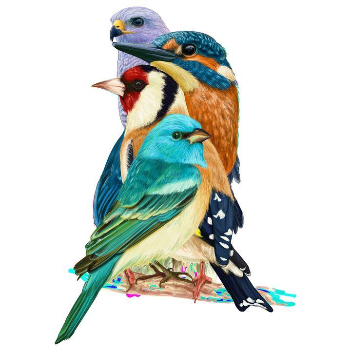 Row of Birds - Arman
