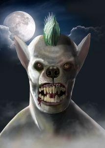 The Weredog - Pit Bull Werewolf