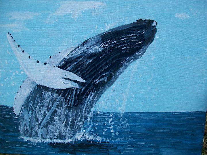 Humpback Whale - Photo Art by D J Chesterton