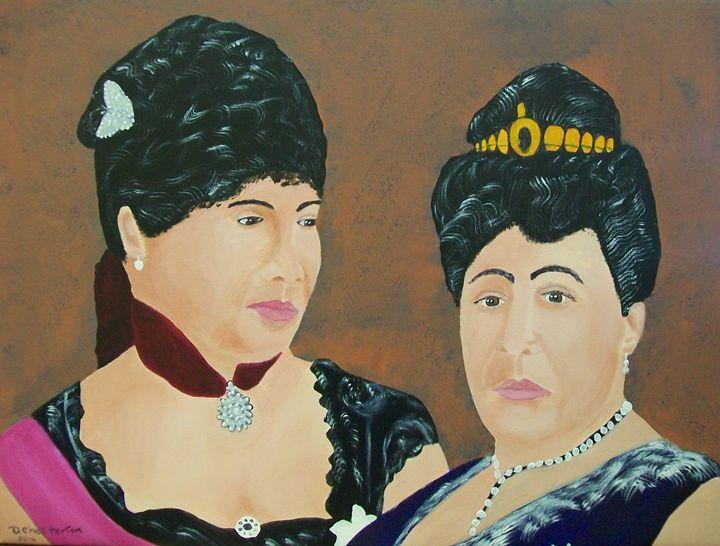 Princess Liliuokalani,Queen Kapiolan - Photo Art by D J Chesterton
