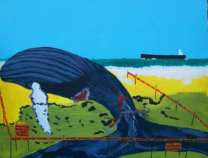 Beached Whale - Photo Art by D J Chesterton