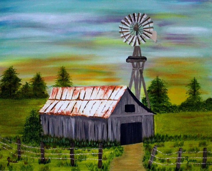 Sunrise On The Old Farm - Regena Jones Art In Bloom
