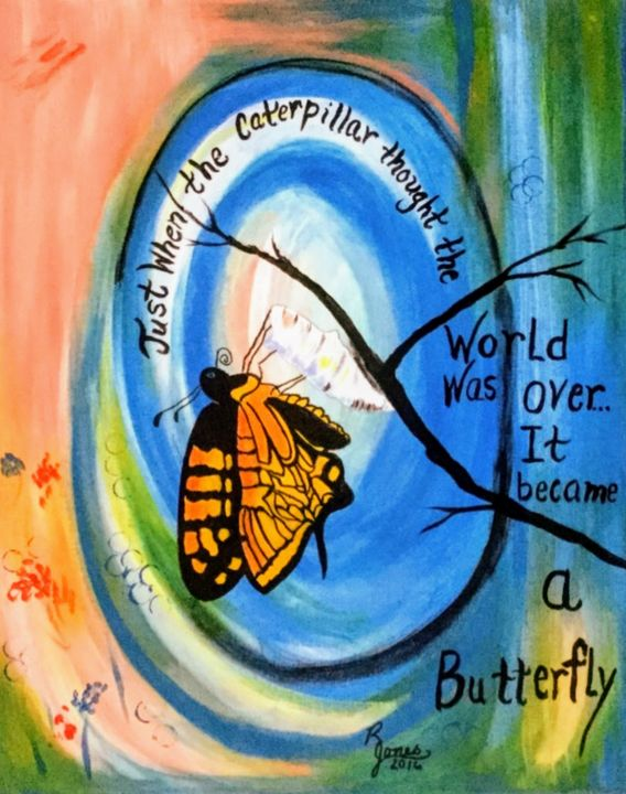 Birth Of A Butterfly - Regena Jones Art In Bloom