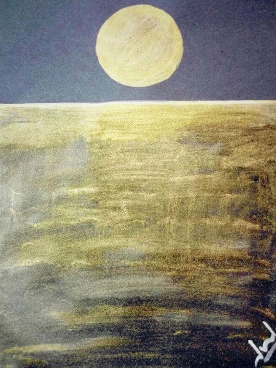 Golden Moon - MyArtMyIdeazz