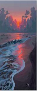 coucher de soleil sur le plage