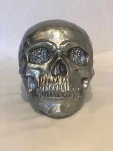 Silver Skull with Crystals