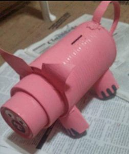 PINK TIN CAN PIGGY BANK - Islandtreasures247