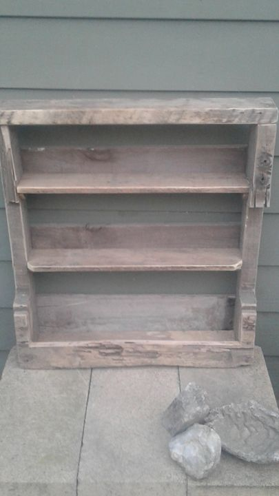 RUSTIC HAND CRAFTED WOOD WALL SHELF - Islandtreasures247