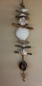 SEA SHELL & DRIFT WOOD MOBILE DECOR - Islandtreasures247