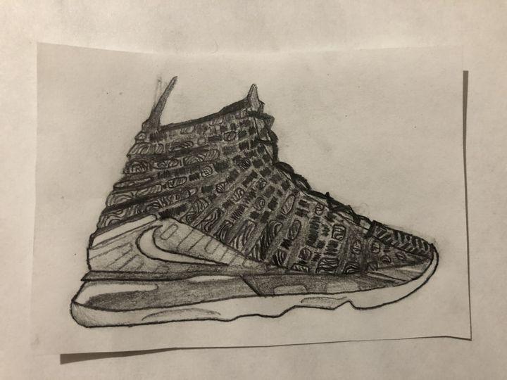 Shoe drawing - art stuff by Hasan
