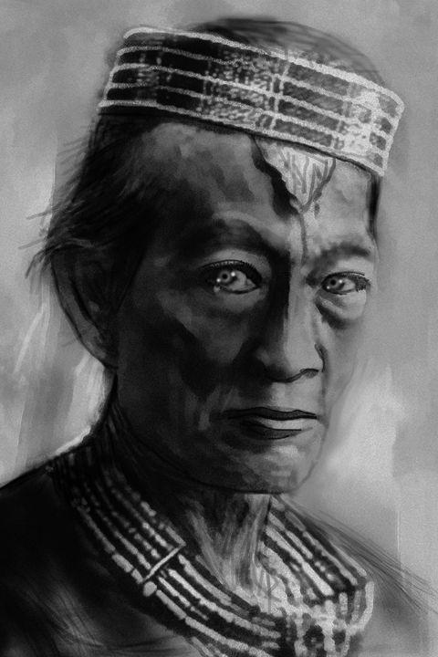 tribal chief gaze - Galih Art