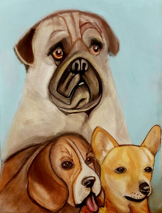 Dog and Friends - Dolores Lee