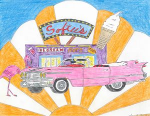 Pink Cadillac - Leon Maiolo Art