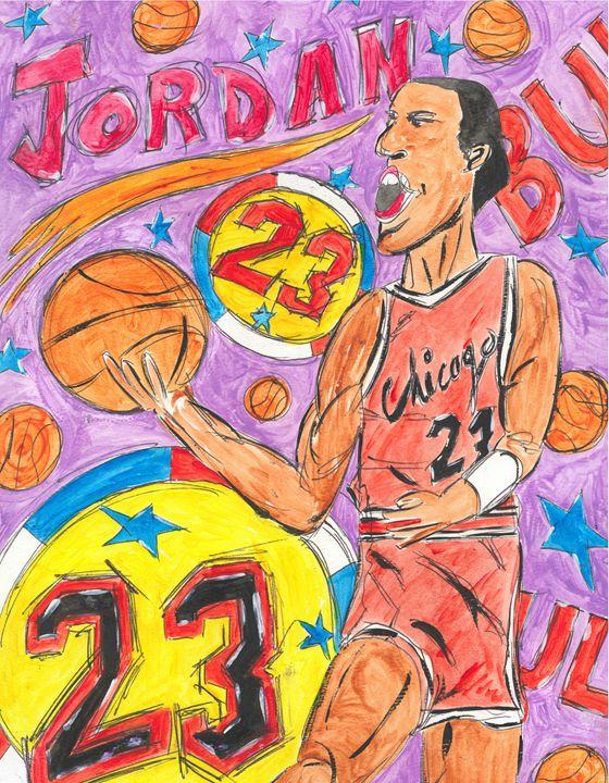 Michael Jordan - Leon Maiolo Art