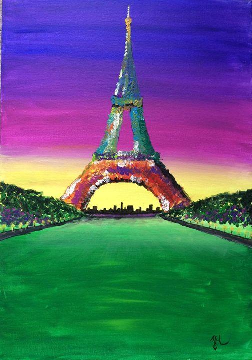 Sunset in Paris - Justyna Magiera