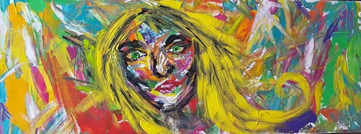Scared woman - Justyna Magiera