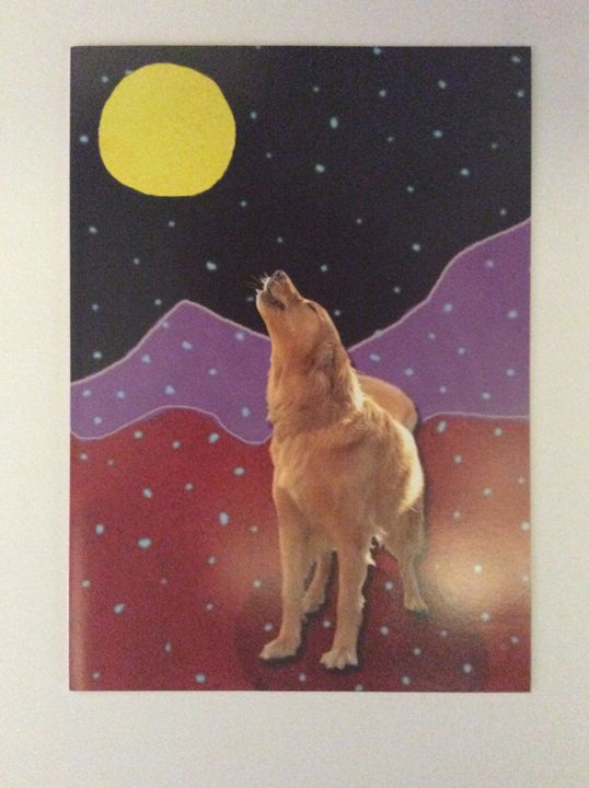 Barking at the Moon - Marcia's Sad Horse Gallery