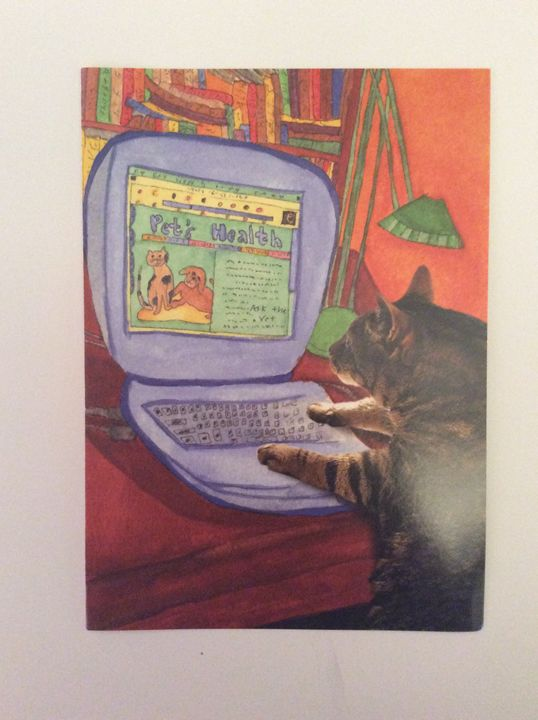 Cats Laptop - Marcia's Sad Horse Gallery