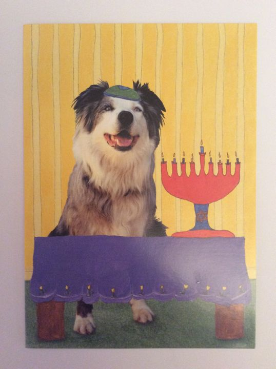 Dogs  Hanukkah - Marcia's Sad Horse Gallery