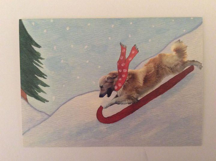 Doggie Snow Day - Marcia's Sad Horse Gallery