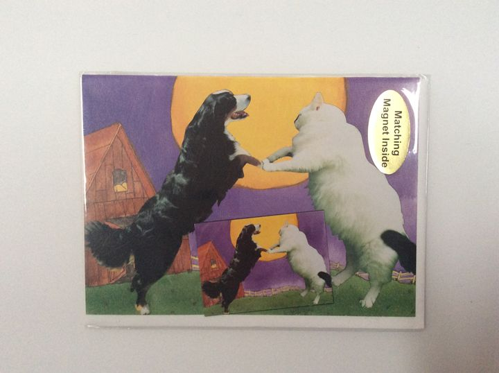 Dance of pets with matching magnet - Marcia's Sad Horse Gallery