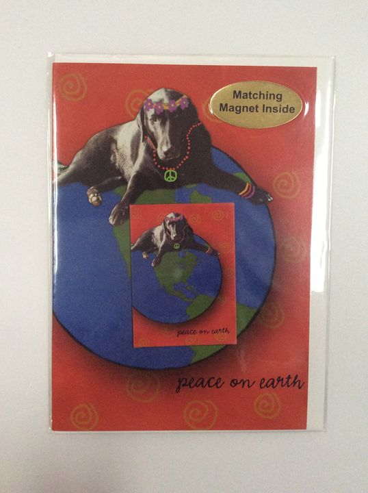 Dog's Peace with matching magnet - Marcia's Sad Horse Gallery