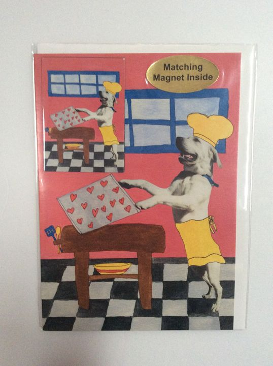 Dog's Love with matching magnet - Marcia's Sad Horse Gallery