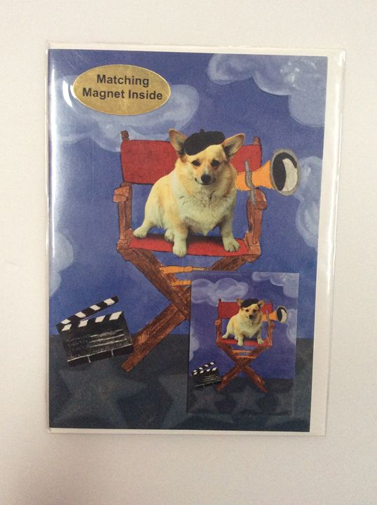 Doggie Director with matching magnet - Marcia's Sad Horse Gallery