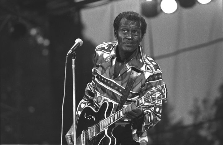 Musician Chuck Berry BW Photo - Front Row Photographs