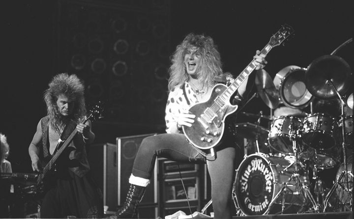 Blue Murder John Sykes BW Photo - Front Row Photographs