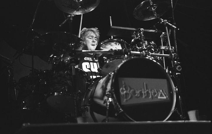 Drummer Jason Bonham BW Photo - Front Row Photographs