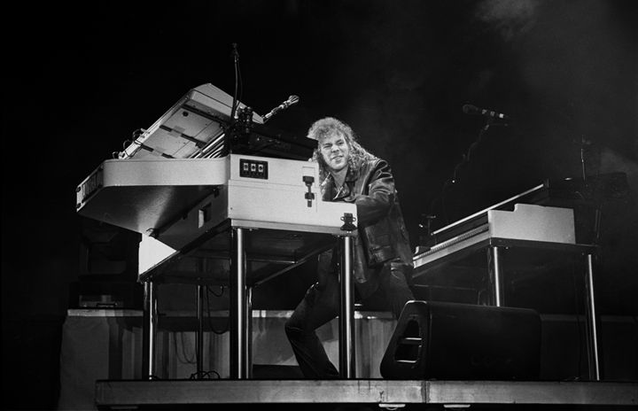 Bon Jovi David Bryan BW Photo - Front Row Photographs